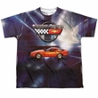 Chevy Shirt Corvette Lines Of Light Sublimation Youth Shirt Front/Back Print