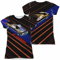Chevy Shirt El Camino Sublimation Juniors Shirt Front/Back Print