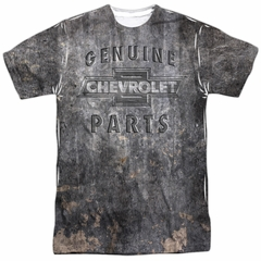 Chevy Shirt Genuine Parts Metal Bowtie Sublimation Shirt Front/Back Print
