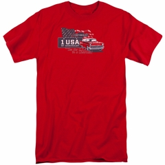 Chevy Shirt See The USA Chevrolet Tall Red T-Shirt