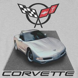 Chevy Silver 01 Vette T-shirts