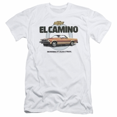 El Camino Chevy Slim Fit Shirt Also A Truck White T-Shirt
