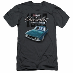 Chevy Slim Fit Shirt Blue Classic Camaro Charcoal T-Shirt