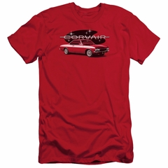 Chevy Slim Fit Shirt Corvair Spyda Coupe Red T-Shirt