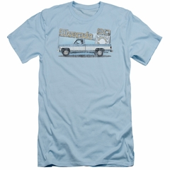 Chevy Slim Fit Shirt Silverado Light Blue T-Shirt
