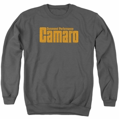Chevy Sweatshirt Camaro Command Performance Adult Charcoal Sweat Shirt