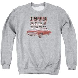 Chevy Sweatshirt Car Of The Year Adult Sports Grey Sweat Shirt