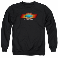 Chevy Sweatshirt We'll Be There TV Spot Adult Black Sweat Shirt
