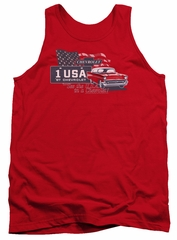 Chevy Tank Top See The USA Chevrolet Red Tanktop