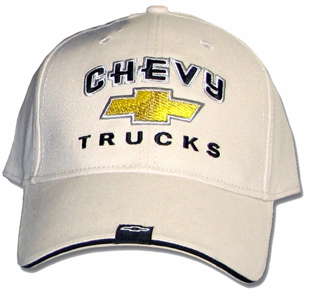 Chevy Truck Hat Gold Bowtie Embroidered Cap