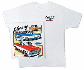 Chevy Truck T-shirt Classic Assorted Pickup Trucks White Tee Shirt