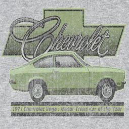 Chevy Vega Car Of The Year 71 T-shirts