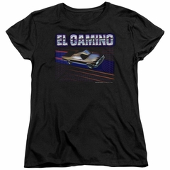 Chevy Womens Shirt 85 El Camino Black T-Shirt