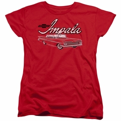 Chevy Womens Shirt Impala Red T-Shirt