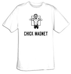 CHICK MAGNET Funny Saying Geek Humor Adult T-shirt