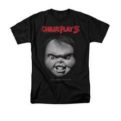Child's Play 3 Shirt Face Poster Adult Black Tee T-Shirt