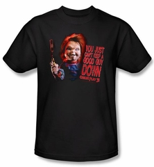 Child's Play 3 T-shirt Movie Good Guy Adult Black Tee Shirt