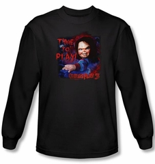 Child's Play 3 T-shirt Movie Time To Play Black Long Sleeve Tee Shirt