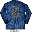 Childhood Cancer Awareness Hope Love Cure Long Sleeve Tie Dye
