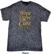Childhood Cancer Awareness Hope Love Cure Mineral Washed Tie Dye Tee