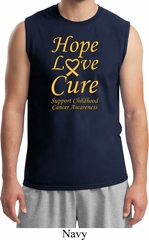 Childhood Cancer Awareness Hope Love Cure Muscle Shirt