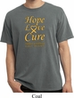 Childhood Cancer Awareness Hope Love Cure Pigment Dyed Shirt