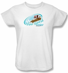 Chilly Willy Ladies T-shirt TV Show Too Cool White Tee Shirt