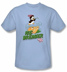 Chilly Willy  T-shirt TV Show Ice Breaker Adult Light Blue Tee Shirt