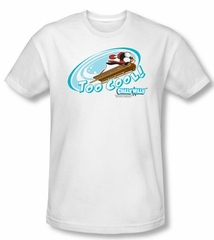 Chilly Willy T-shirt TV Show Too Cool White Slim Fit Tee Shirt