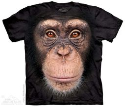 Chimp Face Shirt Tie Dye Adult T-Shirt Tee