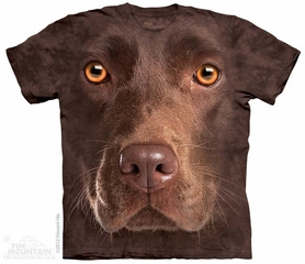 Chocolate Lab Shirt Tie Dye Adult T-Shirt Tee