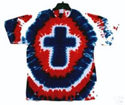 Christian Nation Mens Tie Dye T-shirt - Short Sleeve