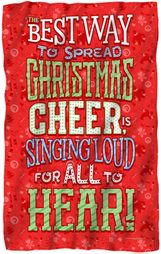 "Christmas Cheer Microfiber Fleece Blanket - 36"" X 58"""