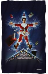 "Christmas Vacation Movie Poster Fleece Blanket - 36"" X 58"""