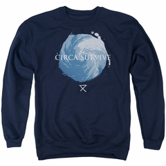 Circa Survive Sweatshirt Storm Adult Navy Blue Sweat Shirt