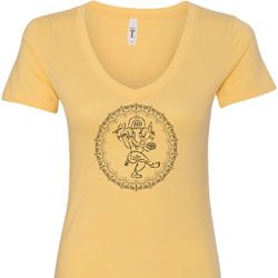 Circle Ganesha Black Print Ladies Shirts