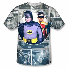 Classic Batman Shirt Comic Strip Sublimation Shirt
