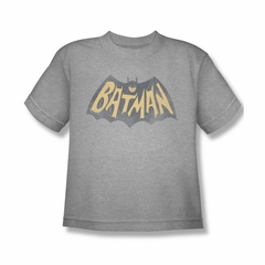 Classic Batman Shirt Kids Show Logo Athletic Heather T-Shirt