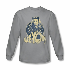 Classic Batman Shirt Meeyow Long Sleeve Silver Sweatshirt