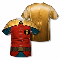 Classic Batman Shirt Robin Costume Sublimation Shirt Front/Back Print