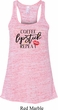 Coffee Lipstick Repeat Ladies Flowy Racerback Tanktop