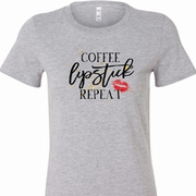 Coffee Lipstick Repeat Ladies Shirts