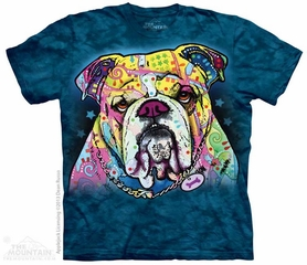 Colorful Bulldog Shirt Tie Dye Adult T-Shirt Tee