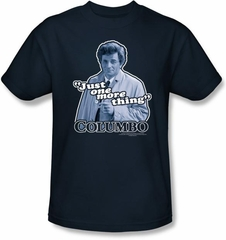 Columbo T-shirt TV Show Just One More Thing Adult Navy Blue Tee