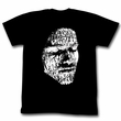 Conan Shirt Draw On My Face Adult Black Tee T-Shirt