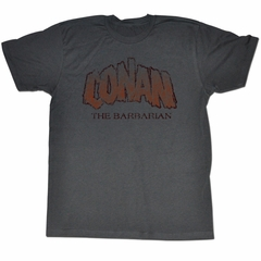 Conan Shirt The Barbarian Adult Heather Charcoal Tee T-Shirt