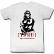 Conan Shirt The Barbarian Adult White Tee T-Shirt