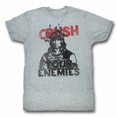 Conan the Barbarian Shirt Crush Your Enemies Athletic Heather T-Shirt