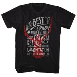 Conan the Barbarian Shirt What Is Best In Life Conan Black T-Shirt