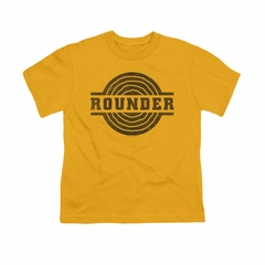 Concord Music Group Shirt Kids Rounder Distressed Gold T-Shirt